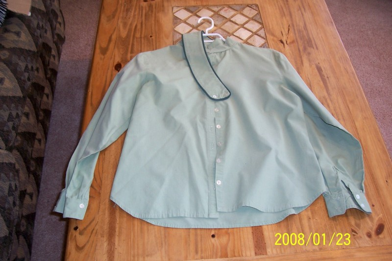 Lot 103-Sage Green English Shirt $25.00